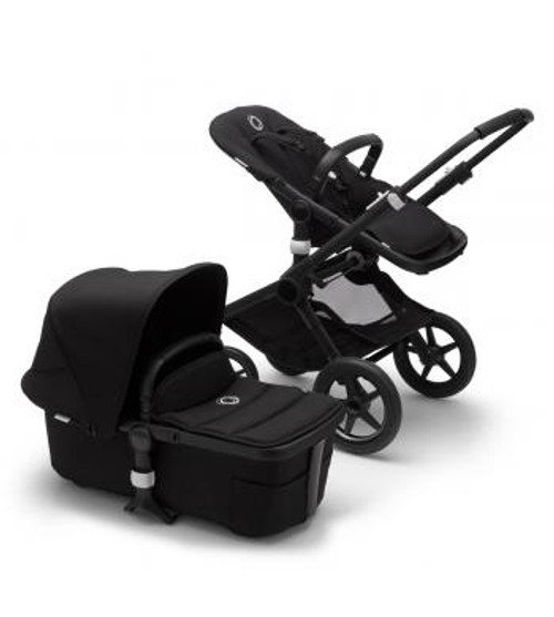 Bugaboo Fox2 Complete Black on Black Chassis  & Carrycot NEW 2020