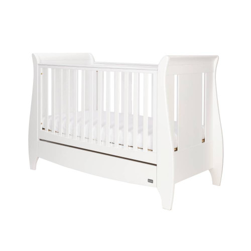 Tutti Bambini Lucas Sleigh 3 in 1 Cot Bed - White (Summer Sale)