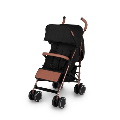 Ickle Bubba Discovery MAX Rose Gold Chassis Pushchair-Black