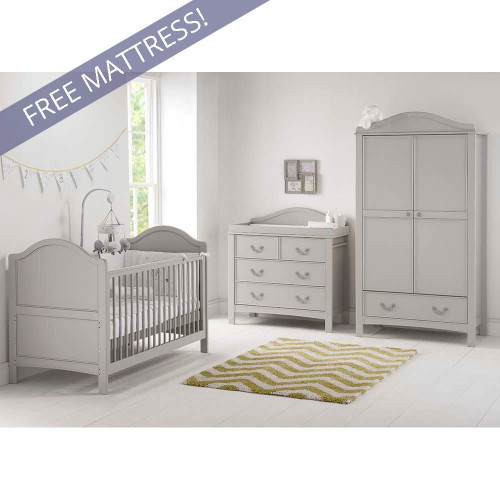 East Coast Toulouse 3 Piece Roomset-Grey FREE Mattress...
