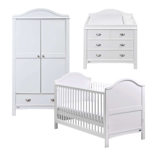 East Coast Toulouse 3 Piece Roomset-White FREE Mattress...