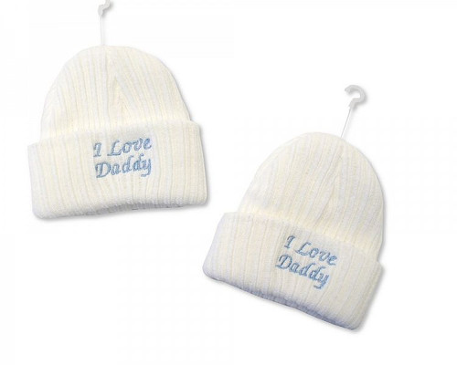 Baby Girls Knitted Hat - I Love Daddy