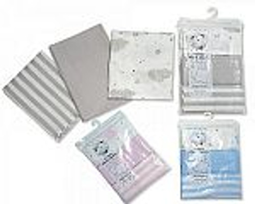 Baby Muslin Squares 3 Pack - Printed and Plain