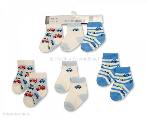 Baby Boys Socks - Cars
