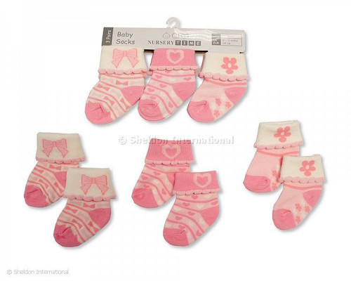 New Baby Girls Socks - Pink