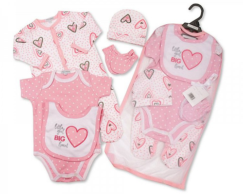 Baby Girls 5 pcs Gift Set - Little Girl, Big Heart