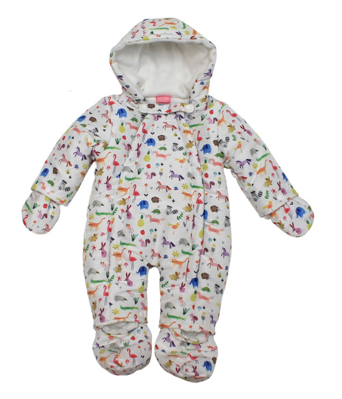 BABY GIRLS MICRO FIBRE SNOWSUIT - UNICORN - 0-9M