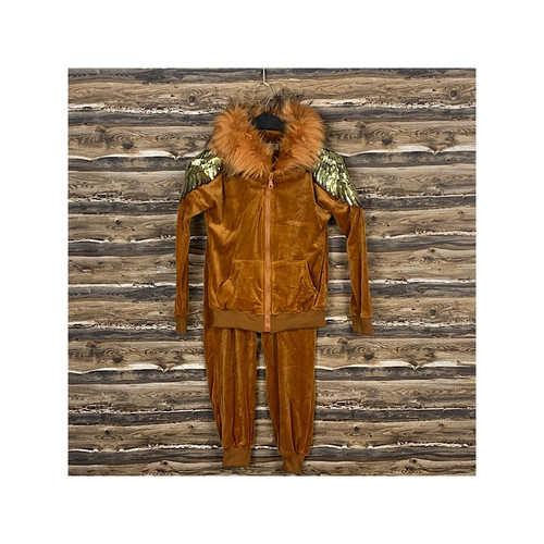 GIRLS  ANGEL WING  VELOUR TRACKSUIT AGE (2-12) YEARS