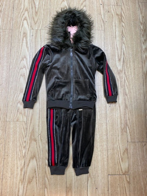 GIRL KIDS VELOUR JOGGING SET