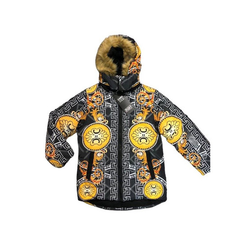 BOYS GREEK KEY FUR JACKET 4-14