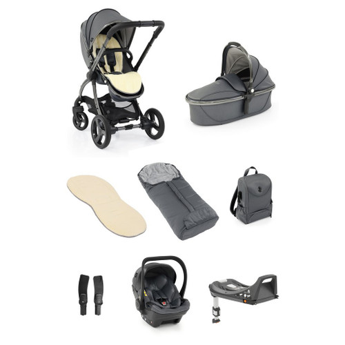 Egg 2 Jurrasic Grey Special Edition Luxury Bundle with Egg Shell car seat and Isofix