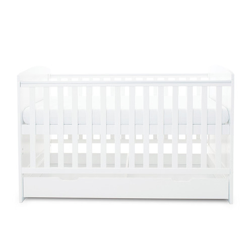 Ickle Bubba Coleby Cot Bed & Under Drawer White : ID: 44-001-DRA/20