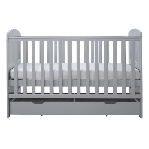 Ickle Bubba Coleby Cot Bed & Under Drawer Grey : ID: 44-001-DRA/20