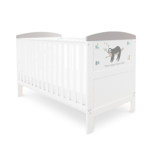 Ickle Bubba Coleby 2 Piece Cot Bed Sloth Grey : ID: 44-002-C2S