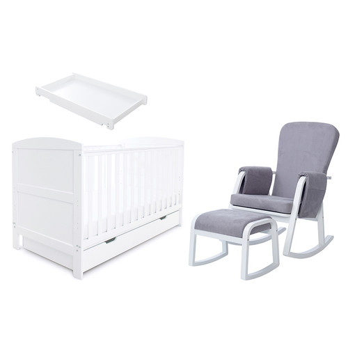 Ickle Bubba Coleby Classic Sleep, Feed & Change 6 piece bundle White:ID: 62-002-G6S