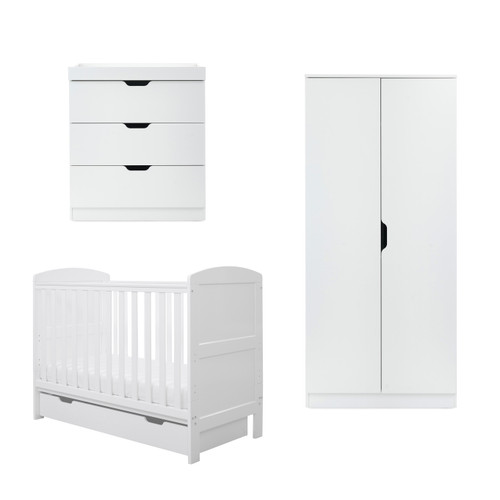 Coleby Mini 4 Piece Furniture Set mini cot bed + under drawer + changing unit + wardrobe