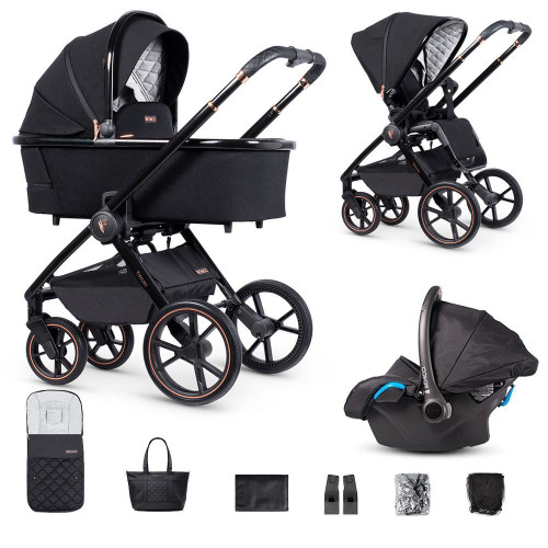 Venicci Tinum 3 in 1 Travel System Special Edition Stylish Black