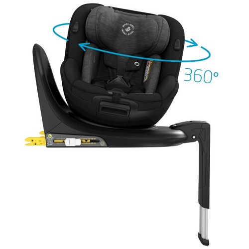 Maxi Cosi Mica 360 i-Size Car Seat-Authentic Black i-Size | 360° Rotating Car Seat | Birth - 4 years