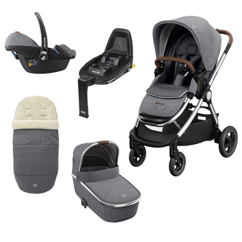 Maxi Cosi Adorra Luxe Collection - Grey Twill **Including FREE FamilyFix 2 Base** KF46700000