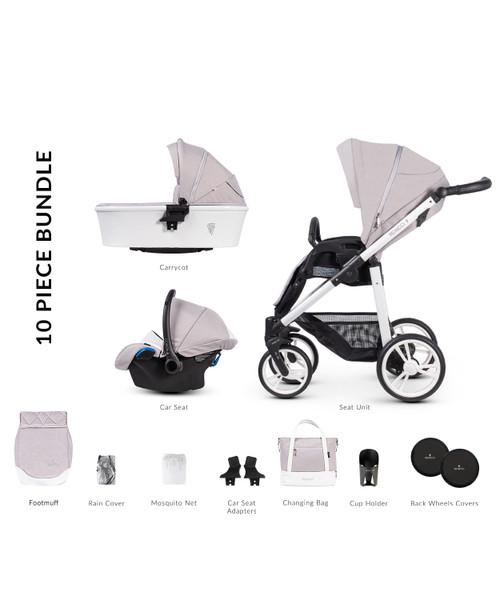 Venicci Pure 2.0 3 in 1 Travel System - Vanilla Venicci Pure 2.0 2 in 1 Travel System - Vanilla