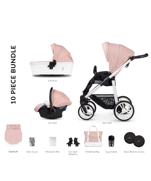 Venicci Pure 2.0 Prestige Edition 3 in 1 Travel System, Rose Venicci Pure 2.0 Prestige Edition 2 in 1 Travel System, Rose