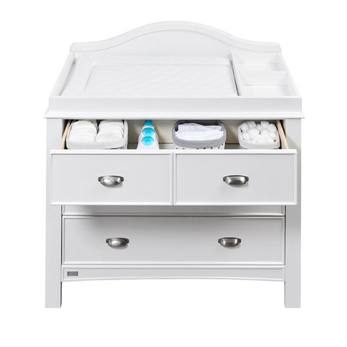 East Coast Toulouse White Dresser & Baby Change Unit with Drawers
