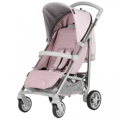 Bebecar Spot Compact Pushchair with Raincover, Pink 2021
