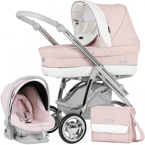 Bebecar M-City Complete Travel System Pack + Raincover & FREE Changing Bag, Yoshino Cherry - 2021
