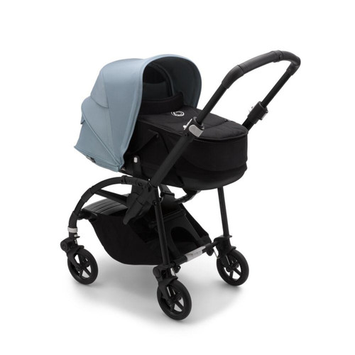 Bugaboo Bee 6 Complete Pushchair &Carrycot - Black + Vapor Blue 2021
