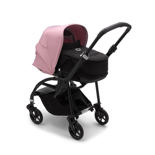 Bugaboo Bee 6 Complete Pushchair & Carrycot - Black + Soft Pink  20/21