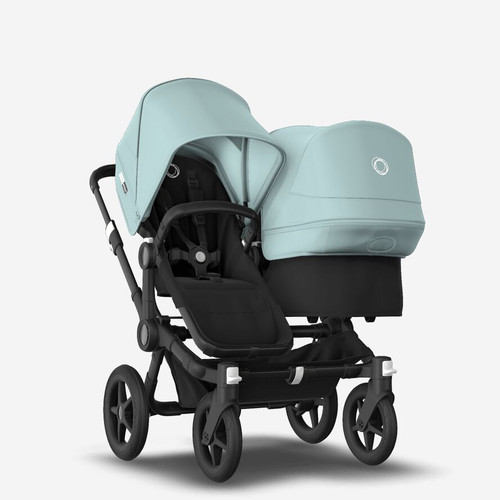 Bugaboo Donkey 3 Duo carrycot and seat pushchair Black /Black chassis with Vapour Blue canopy 2021