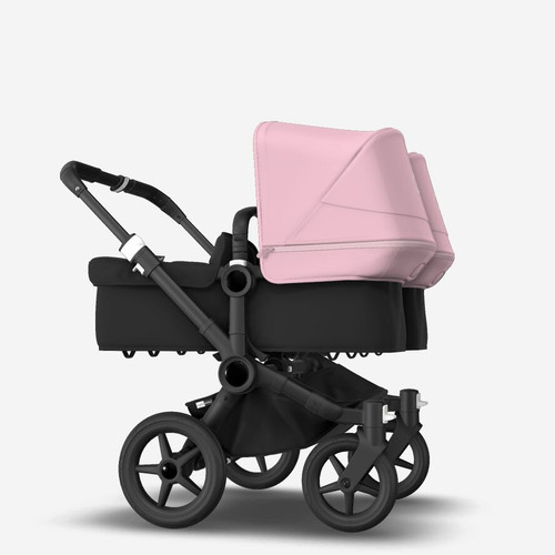 Bugaboo Donkey 3 Twin Complete Black With Pink Canopy 2021