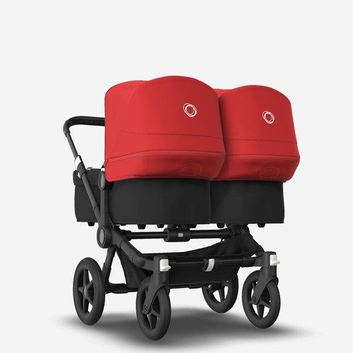 Bugaboo Donkey 3 Twin Complete Black with Red canopy 2021