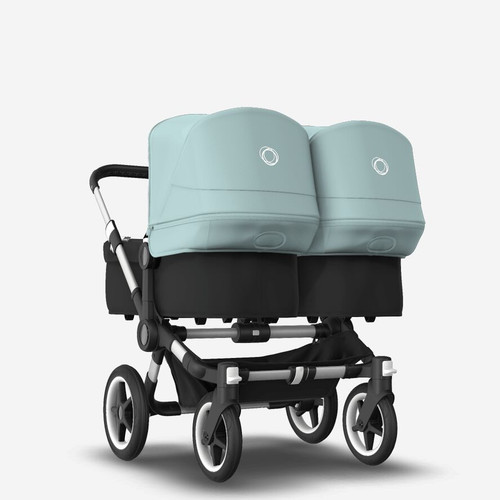 Bugaboo Donkey 3 Twin Complete Black with Vapour blue canopy 2021