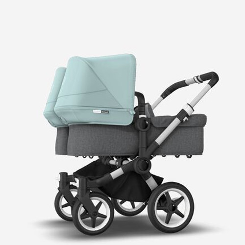 Bugaboo Donkey 3 Twin Complete Grey Melange with Vapour blue canopy 2021