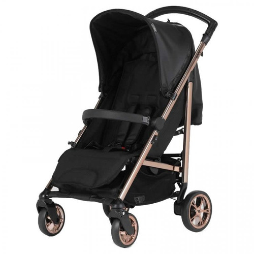 Bebecar Spot Compact Pushchair with Raincover, Black (011) 2021