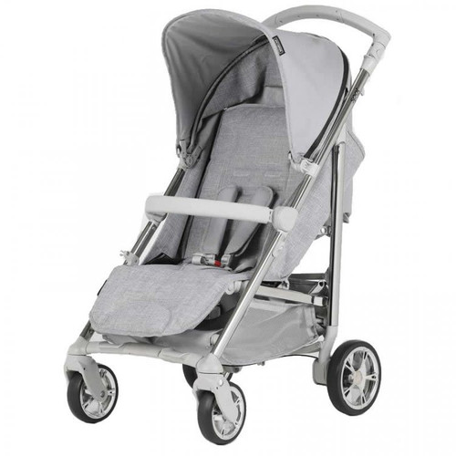 Bebecar Spot Compact Pushchair with Raincover, Grey (111) 2021