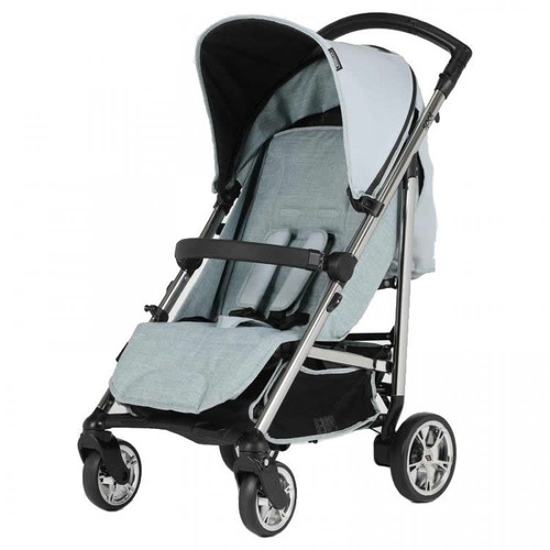 Bebecar Spot Compact Pushchair with Raincover, Blue (113) 2021