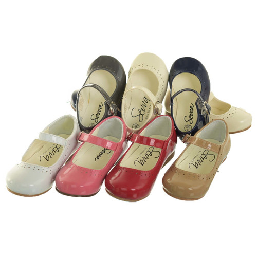 Girls patent formal elegant style shoes (Abbey)