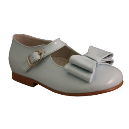 Girls Patent shoe with bow