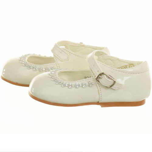 GIRLS BABY TODDLER FIRST OCCASION PARTY WEDDING DIAMANTE SHOES