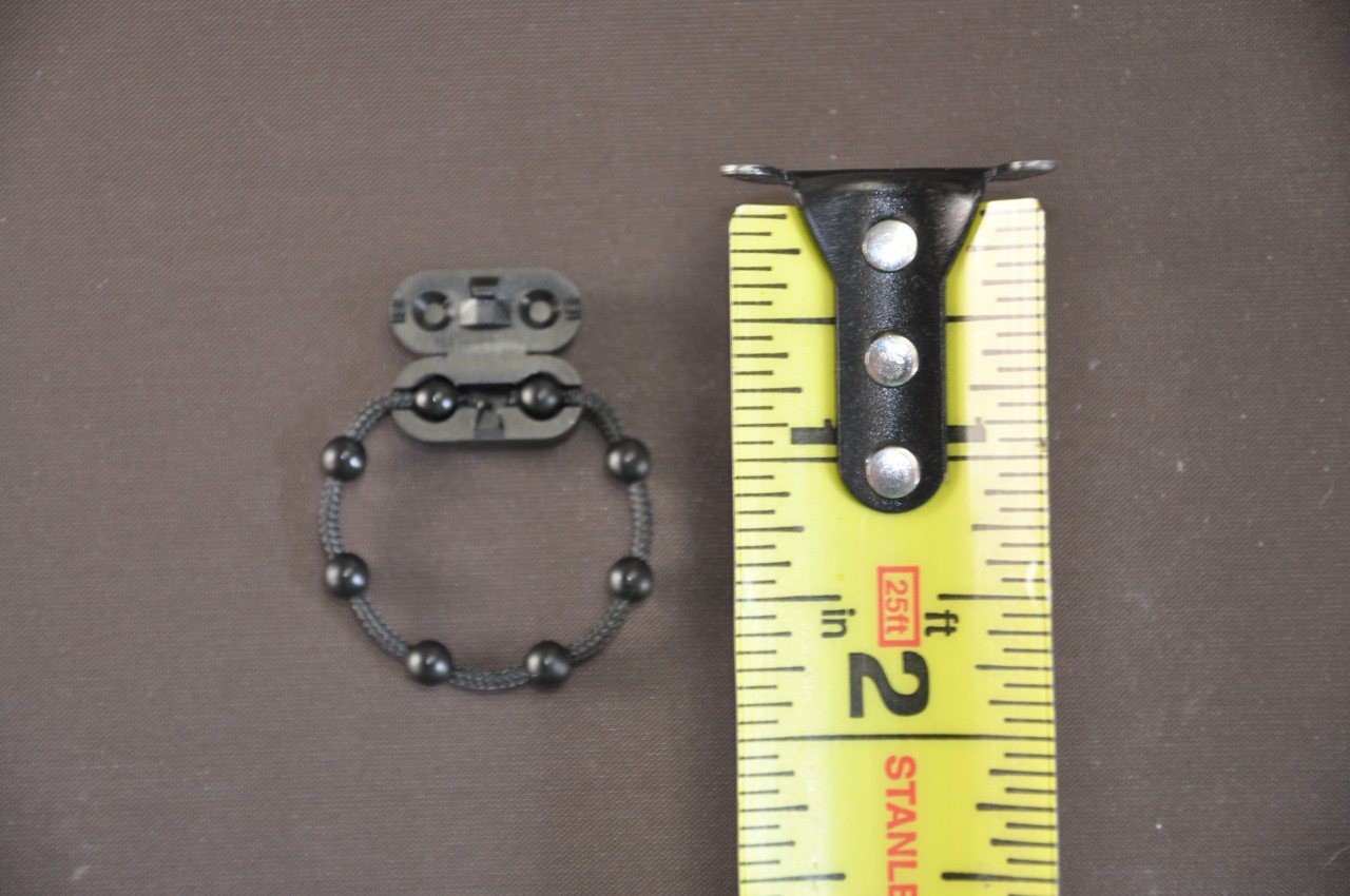 Cord Connector - Roll Ease Beaded Chain - Black - Connector Piece Open