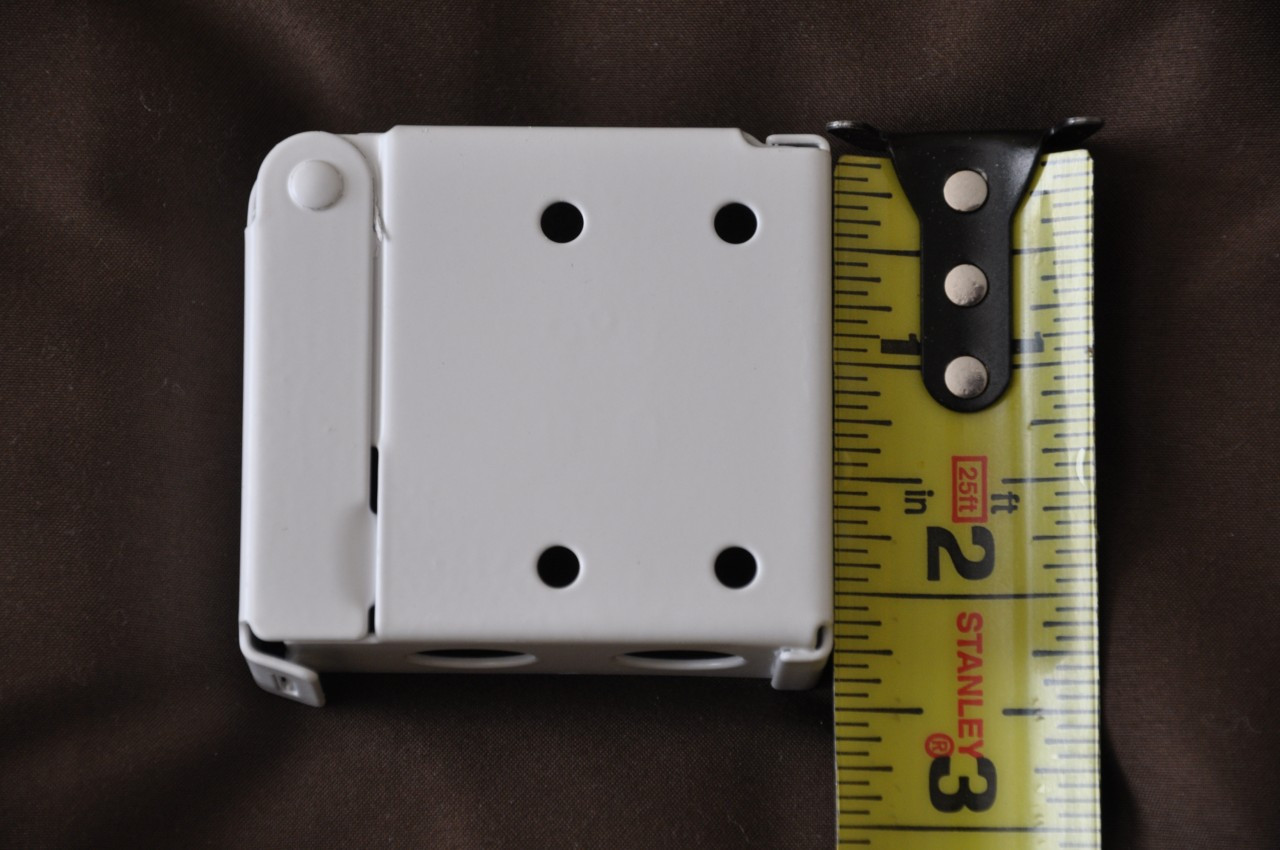 """Mounting Brackets for Faux and Real Wood Blinds - High Profile Headrail - Headrail Size 2"""" X 2 1/4"""" - Sold in Pairs - White"""