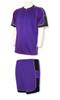 Nova soccer uniform kit in purple/black