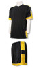 Nova soccer uniform kit in black/gold