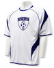 USA Soccer jersey in white/navy by Code Four Athletics