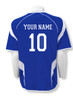 USA Soccer jersey in royal/white, back view with optional name and number