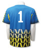 Diadora Fresco s/s keeper jersey in Columbia blue (with optional number on back)