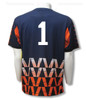 Diadora Fresco s/s keeper jersey in navy (with optional number on back)