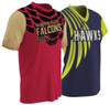 Custom sublimated short-sleeve fan shirts by Code Four Athletics